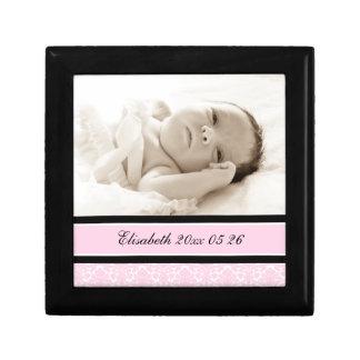 Recuerdo de encargo rosado Giftbox de la foto del  Joyero Cuadrado Pequeño