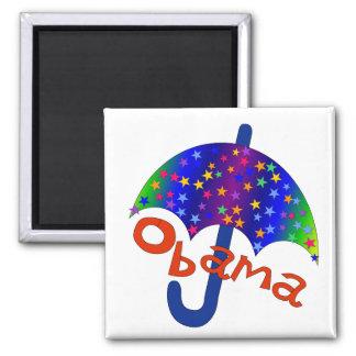 Recuerdo de Inaguration del paraguas de Obama Imán Cuadrado