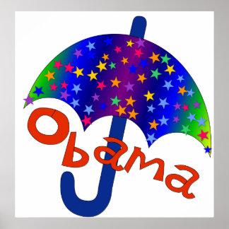Recuerdo de Inaguration del paraguas de Obama Poster