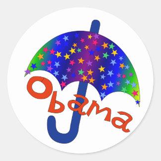 Recuerdo de Inaguration del paraguas de Obama Pegatinas Redondas