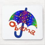 Recuerdo de Inaguration del paraguas de Obama Alfombrilla De Ratones