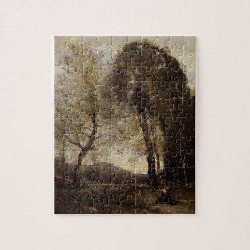 Recuerdo de Italia de Camilo Corot Puzzle