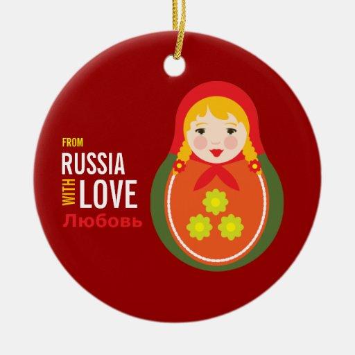 Recuerdo de la adopción de Matryoshka From Russia  Ornamento De Reyes Magos