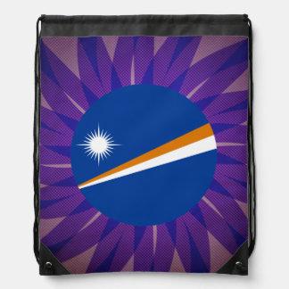 Recuerdo de la bandera de Marshallese Mochilas