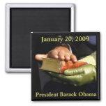 Recuerdo de la biblia de Barack Obama Imán Cuadrado