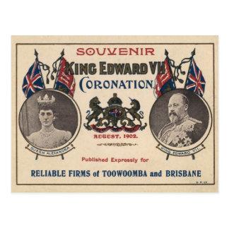 Recuerdo de la coronación de Edward VII Postales