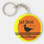 Recuerdo de la Diego-Puesta del sol de San Llavero Redondo Tipo Pin