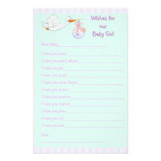 Recuerdo de la fiesta de bienvenida al bebé - dese papelería personalizada