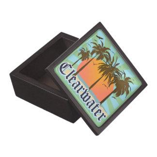 Recuerdo de la Florida de la playa de Clearwater Caja De Regalo De Calidad