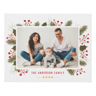 Recuerdo de la foto de familia del navidad de la cuadro