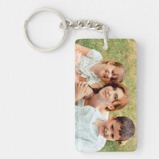 Recuerdo de la foto de familia llavero rectangular acrílico a una cara