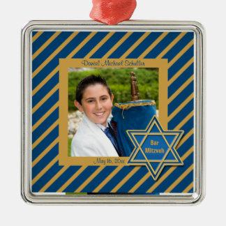 Recuerdo de la foto de Mitzvah de la barra Ornaments Para Arbol De Navidad