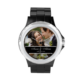 Recuerdo de la foto del boda relojes