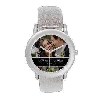 Recuerdo de la foto del boda relojes de pulsera