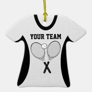 Recuerdo de la foto del jersey de equipo del tenis adorno de cerámica en forma de camiseta