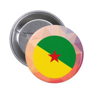 Recuerdo de la Guayana Francesa Pin Redondo 5 Cm