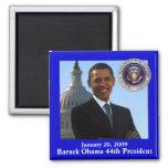 Recuerdo de la inauguración de Obama Imán Cuadrado