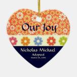 Recuerdo de la invitación de la adopción ornaments para arbol de navidad