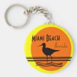 Recuerdo de la Playa-Puesta del sol de Miami Llavero Personalizado