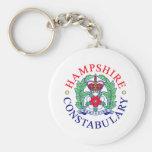 Recuerdo de la policía de Hampshire Llaveros Personalizados