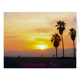 Recuerdo de la puesta del sol de California de la Tarjeta De Felicitación Grande