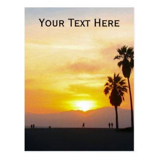Recuerdo de la puesta del sol de California de la Tarjeta Postal