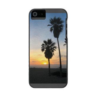 Recuerdo de la puesta del sol de California de la Funda Cartera Para iPhone 5 Watson
