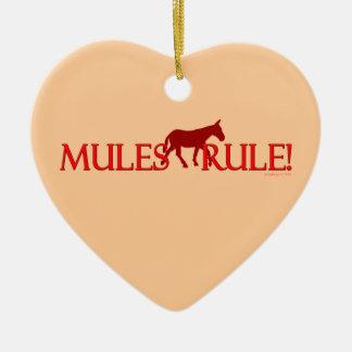 Recuerdo de la silueta de la regla de las mulas ornamentos de reyes magos