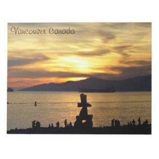 Recuerdo de las señales de Vancouver de la libreta Libretas Para Notas