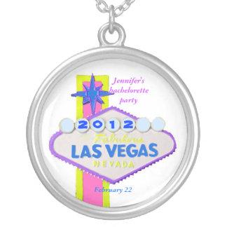 Recuerdo de Las Vegas Bachelorette Colgante Redondo