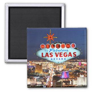 Recuerdo de Las Vegas Imán Cuadrado