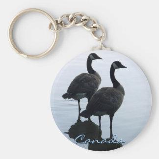 Recuerdo de los gansos de Canadá del llavero del r