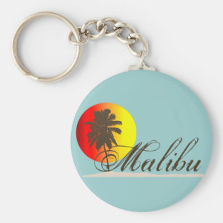 Recuerdo de Malibu California Llavero Redondo Tipo Pin
