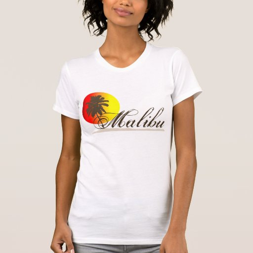 Recuerdo de Malibu California Playera