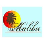 Recuerdo de Malibu California Tarjeta Postal