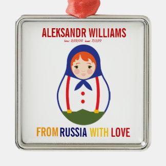 Recuerdo de Matryoshka del ruso del ornamento de l Adorno