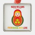 Recuerdo de Matryoshka del ruso del ornamento de l Ornamentos De Navidad