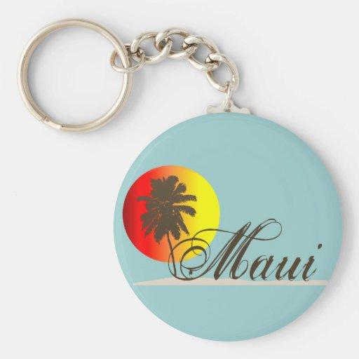 Recuerdo de Maui Hawaii Llavero Redondo Tipo Pin