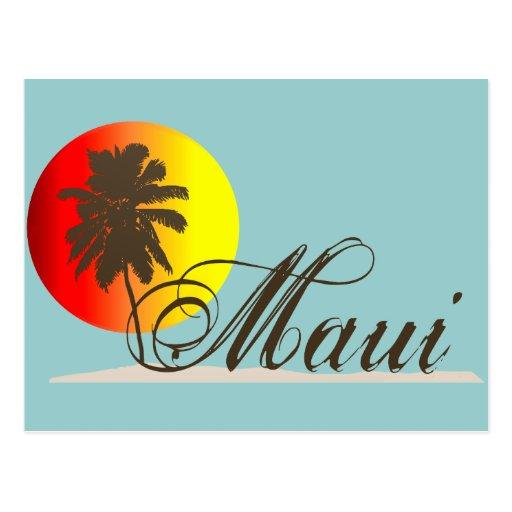 Recuerdo de Maui Hawaii Tarjeta Postal