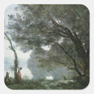Recuerdo de Montefontaine, 1864 Pegatina Cuadradas Personalizada