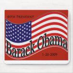 Recuerdo de Mousepad de la inauguración de Obama Tapete De Ratones