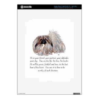 Recuerdo de Pekingese - VARÓN Pegatina Skin Para iPad 3