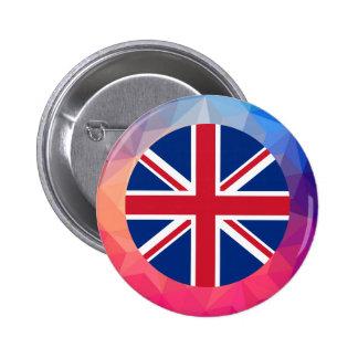 Recuerdo de Reino Unido Pin Redondo 5 Cm