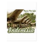 Recuerdo de Tana Toraja Indonesia Postal