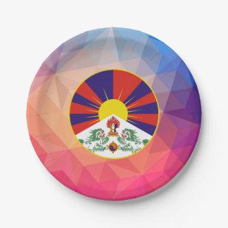 Recuerdo de Tíbet Plato De Papel De 7 Pulgadas