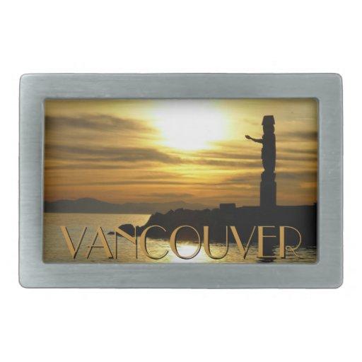 Recuerdo de Vancouver Canadá de la hebilla del cin Hebillas De Cinturon Rectangulares