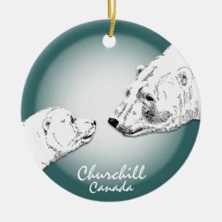 Recuerdo del arte del oso polar del ornamento de C Ornamentos Para Reyes Magos
