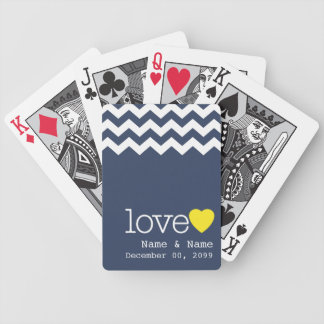 Recuerdo del boda con el modelo moderno del galón cartas de juego