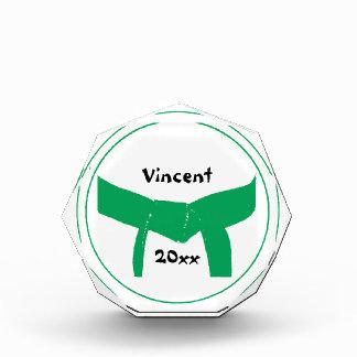 Recuerdo del cinturón verde de los artes marciales