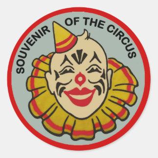 Recuerdo del circo pegatina redonda